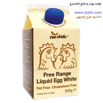 Powder and liquid eggs